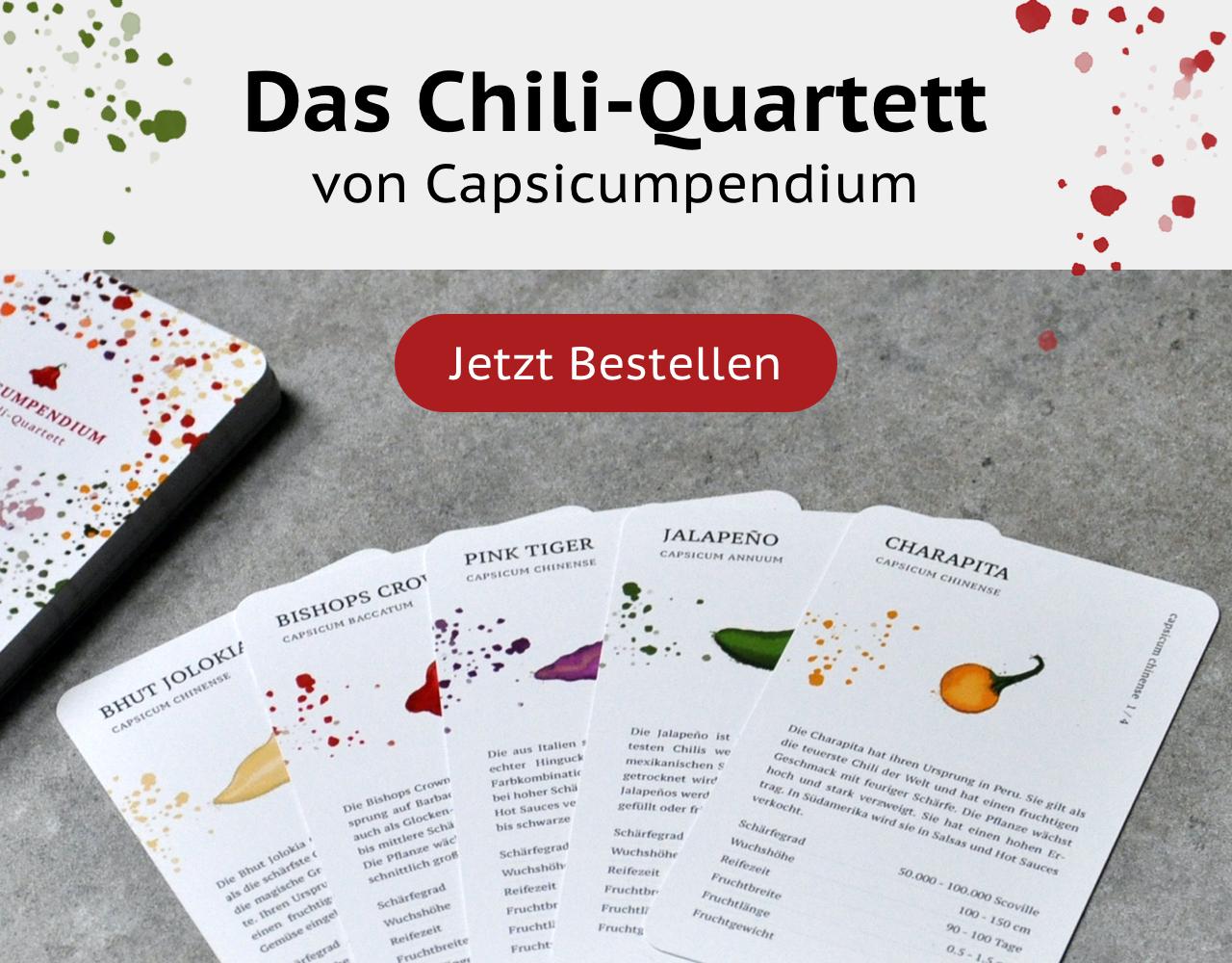 ein Chili Sorten Quartett